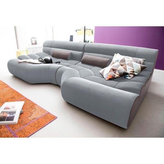 Trendmanufaktur Big Sofa Grau Stoff Hoher Sitzkomfort In 2020