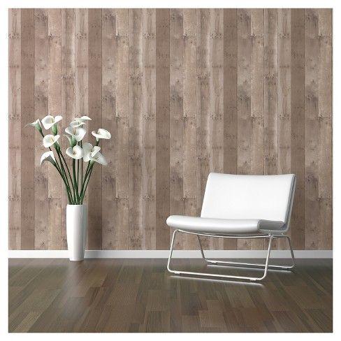 Reclaimed Wood Peel Stick Wallpaper Brown Threshold Peel And Stick Wallpaper Reclaimed Wood Buy Reclaimed Wood