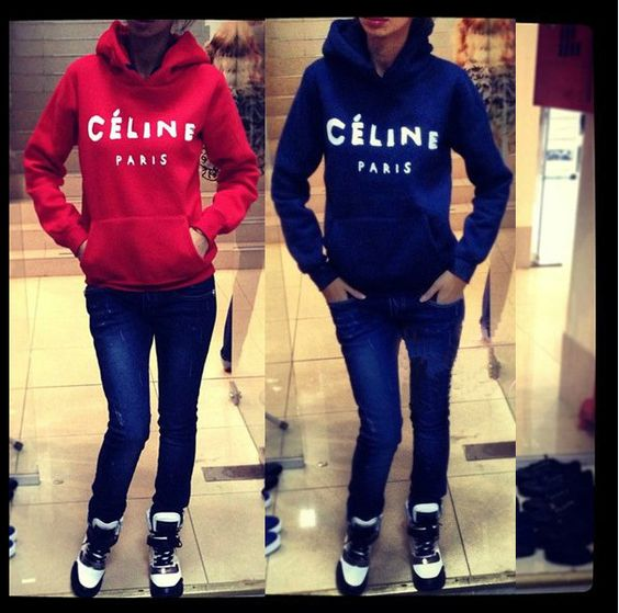 2XL New 2014 Ciline fleece warm winter PARIS letter print top Pullover Hoodies Sweatshirt plus size sweater for women $638,94 - 714,15
