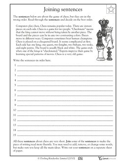 Worksheet Fifth Grade Writing Worksheets complex sentences comprehension and language on pinterest free arts worksheets for fourth fifth grades your child will practice putting sentences