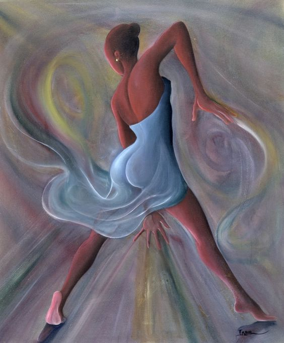 Quot Blue Dress Quot Oil On Canvas By Ikahl Beckford Jamaican