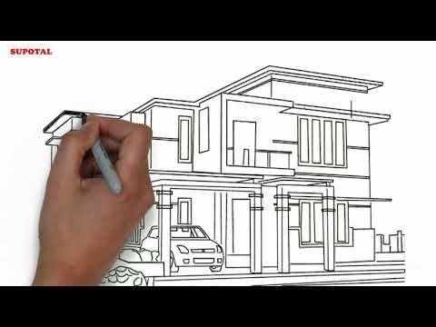 Menggambar Rumah Minimalis Berwarna Youtube Rumah Gambar Rumah Mewah