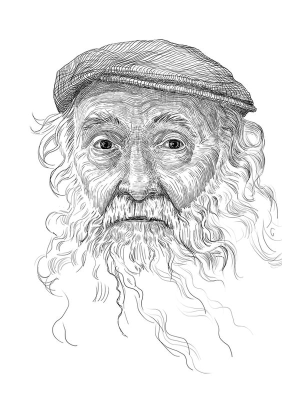 Old man by Tatiana Trikoz, via Behance