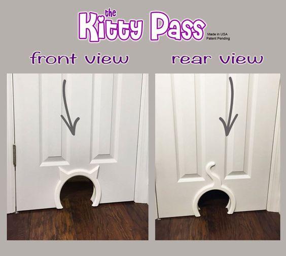 Amazon.com : The Kitty Pass Interior Cat Door, Pet Door Hidden Litter Box. : Pet Supplies