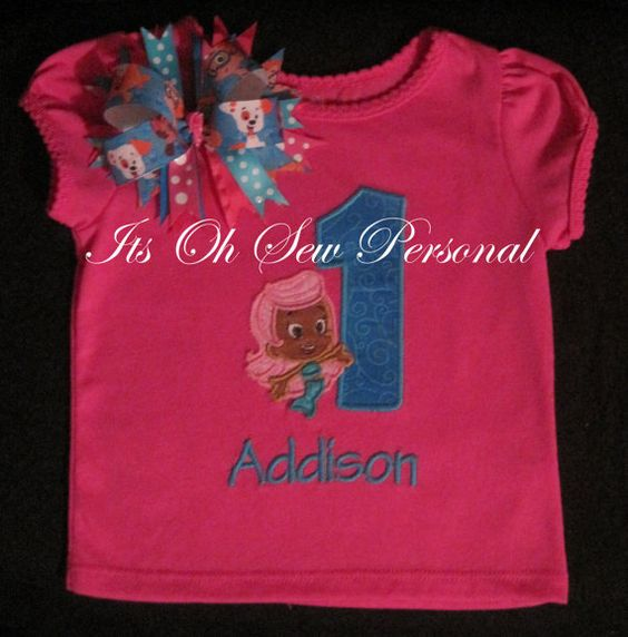 Bupple guppies inspired Birthday Shirt & Bow by Itsohsewpersonal, $34.00