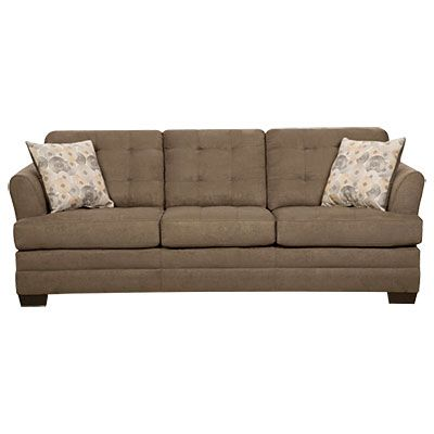 Simmons Velocity Shitake Sofa With Gigi Pillows At Big