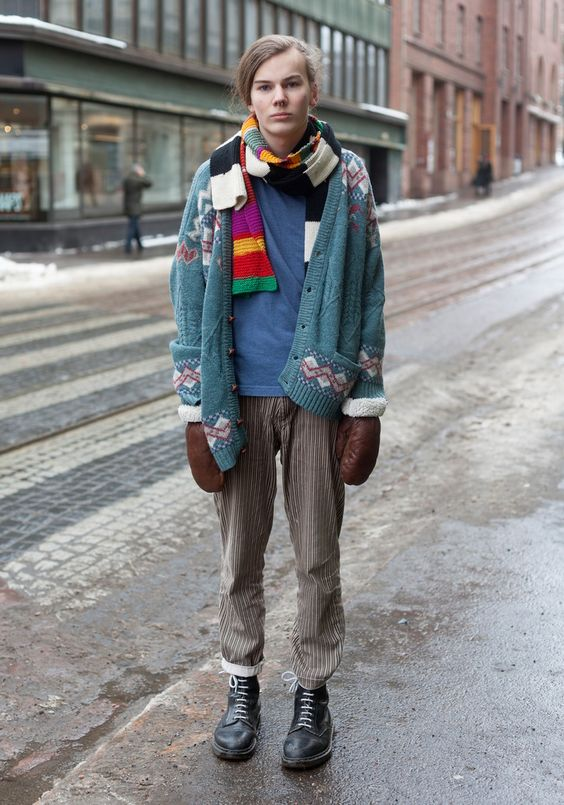 "Axel 15 - Hel Looks - Street Style from Helsinki - ""I like to play with gender roles. I like to wear skirts and nail polish, for example.  Lady Gaga and Tokyo street style inspire me."""