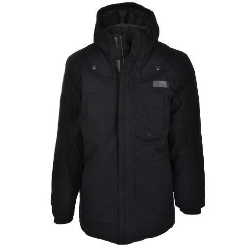 Adidas Mens Black Winter Cargo Parka Jacket Coat « Impulse Clothes ...