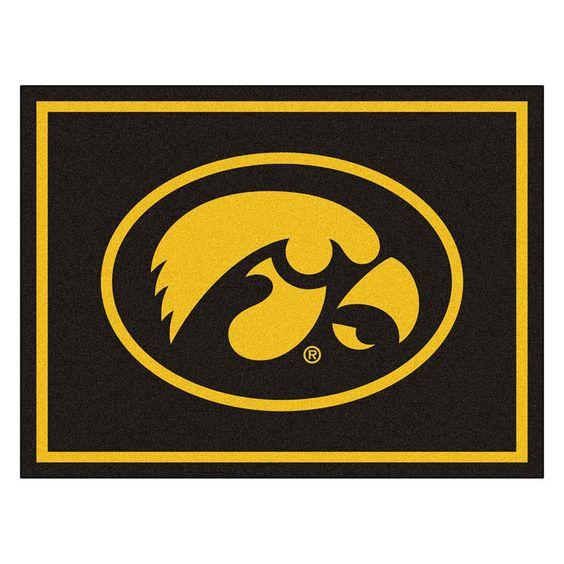 Iowa Hawkeyes NCAA 8ft x10ft Area Rug
