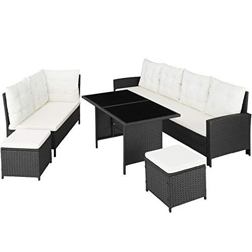 Tectake 800753 Rattan Garden Furniture Set With Corner Sofa Table And Stool Outdoo In 2020 Rattan Garden Furniture Sets Rattan Garden Furniture Garden Furniture Sets