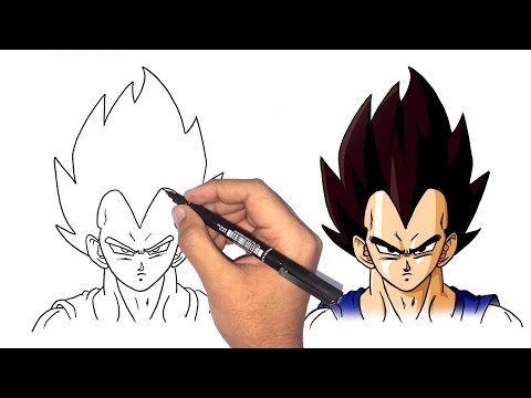 تعلم طريقة رسم الانمي كيف ترسم وجه فيجيتا من انمي دراغون بول كيفية رسم فيجيتا Youtube Art Crafts Humanoid Sketch