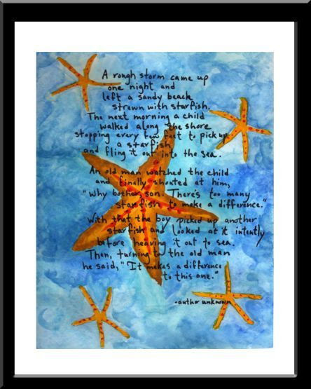 The starfish story thinspiration motivation happy for Star fish story