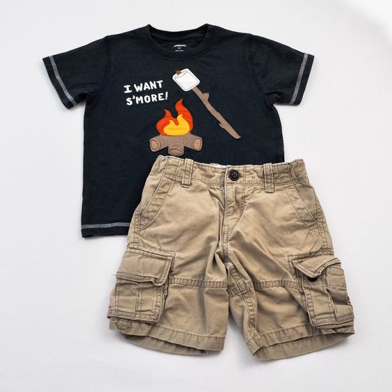 S'more Shirt // Boy 3/3T Shirt and Shorts- Gymboree with Baby Gap- Click to see the whole 11 piece lot!