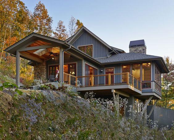 Web exclusive floor plans for hillside heaven cabin for Mountain cabin plans hillside