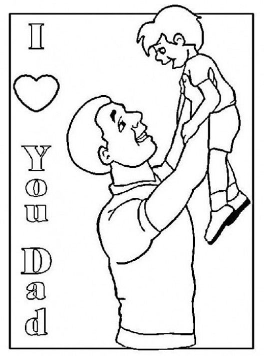 I Love You Dad Coloring Page Father S Day Fathers Dad Father