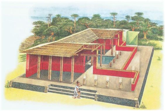 Plan of an ancient Maya house from the northern Yucatán 1