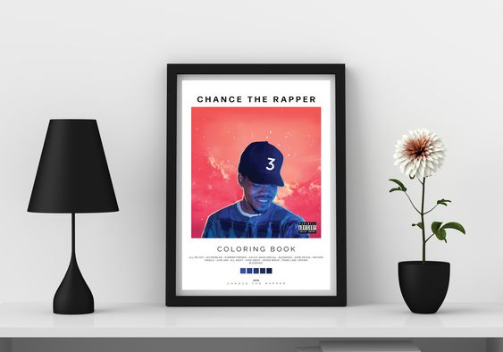 Change The Rapper Coloring Book In 2020 Poster Prints Coloring Books Simplistic Poster Design