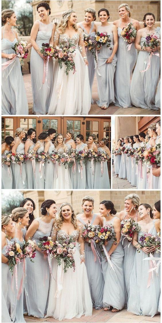 Mismatched Long Bridesmaid Dresses For Wedding From Wedding Long