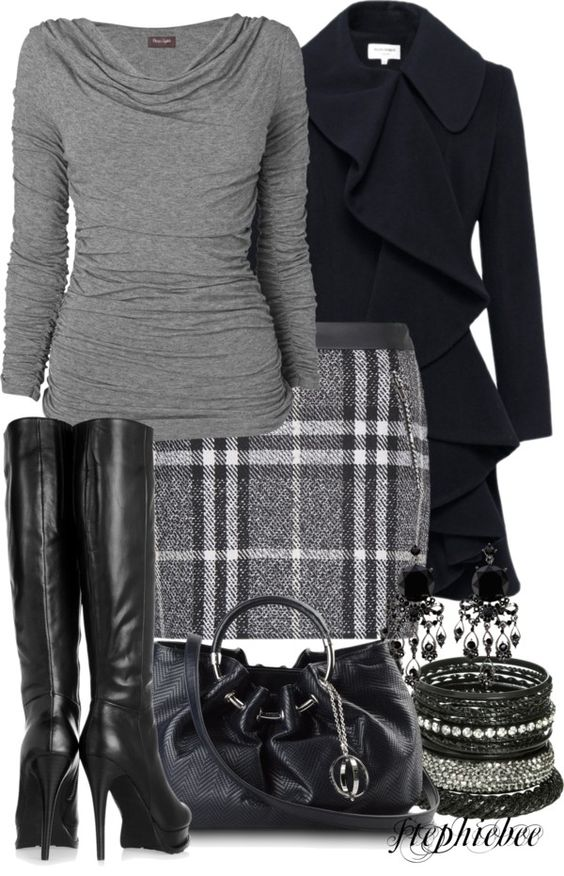 """Plaid Skirt"" by stephiebees on Polyvore. Great ensemble. I used to have some really cute plaid skirts... I wonder why I never replaced them"