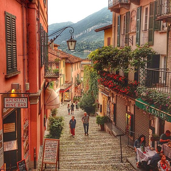Strolling the streets at Lake Como in Italy. Photo courtesy of myriesh on instagram.