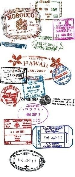 Could I create something similar with my own passport stamps?