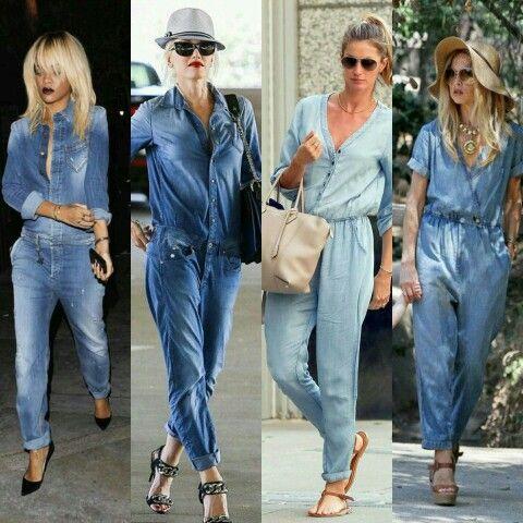 Fim de semana pede um estilo casual, que tal Rihana, Gwen, Gisele e Zoe usando macacão jeans?! Vem pro blog conferir www.comestilounico.com.br