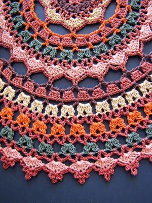 BellaCrochet: Autumn Spice Mandala Doily: A Free Crochet Pattern ~ k8~