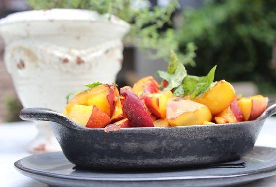 Peaches and pancetta
