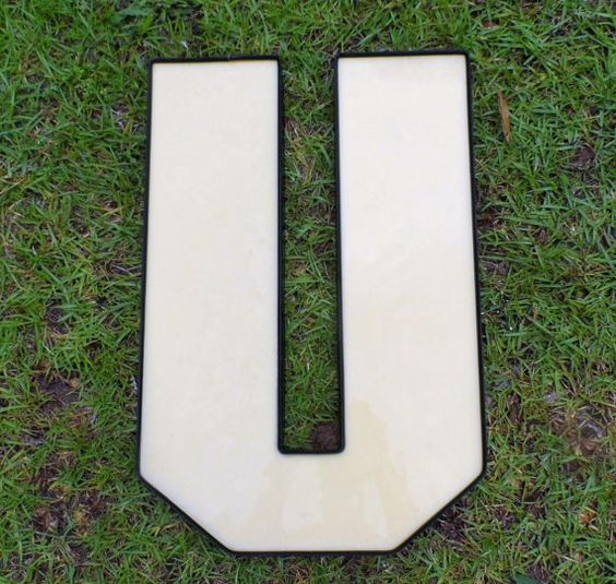 acrylic channel letter u letter crafts pinterest With acrylic letters for crafts