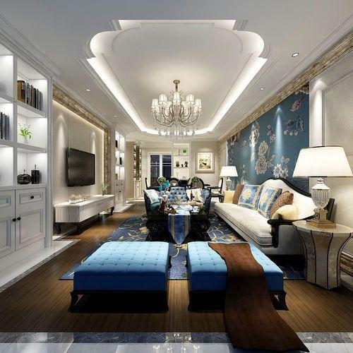 3D model china fashion European-Style Living Room Design ...
