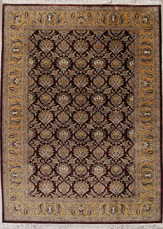 New Traditional Agra Indian Oriental Hand Knotted Wool 10x14 Area Rug Brown 14 0 Quot X 9 7 Quot In 2020 Area Rugs Bohemian Rug Rugs