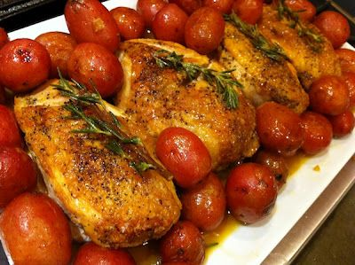 Chicken with Roasted Lemons and Rosemary
