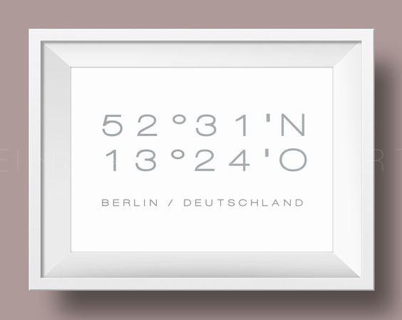 Digitaldruck - 'MEIN PLATZ' Wunschort Kunstdruck /    von Einsaushundert via DaWanda.com