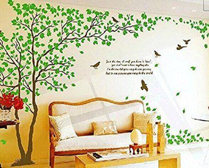 Colorfulworld xxxl grand autocollant mural motif arbre for Autocollant mural arbre