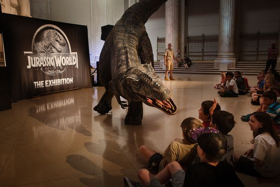 'Jurassic World' exhibit opening at a Philadelphia museum because kids love dinosaurs and tempting fate