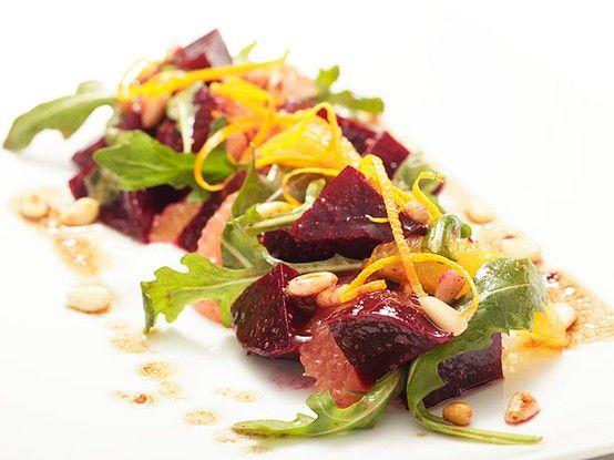 Beet and Citrus Salad with Pinenut Vinaigrette