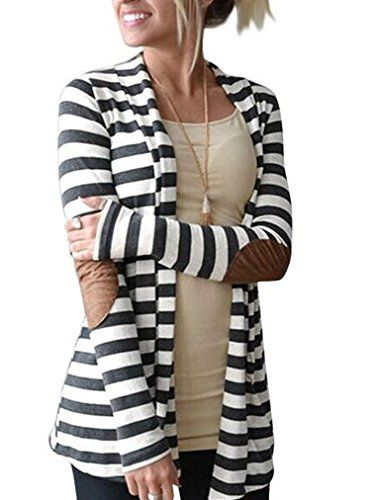 News OURS Women's Elbow Patch Long Sleeve Shawl Collar Striped Open Front Cardigan Sweater (XXL, Gray and white)   buy now     $16.99 Please check the size before you buy, thank you   ATTENTION:The size is petite,Please choose ONE SIZE larger before you buy!  ... http://showbizlikes.com/ours-womens-elbow-patch-long-sleeve-shawl-collar-striped-open-front-cardigan-sweater-xxl-gray-and-white/