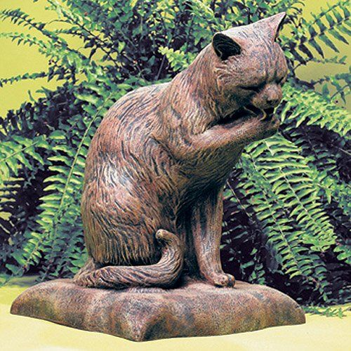 Have to have it. Cat Bath Statue - $142.98 @hayneedle.com: