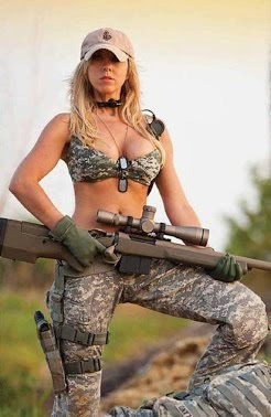 camo with Sexy and girl gun