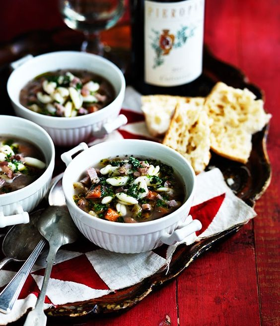 Pasta and beans (pasta e fasioi) recipe | Gourmet Traveller WINE :: Gourmet Traveller