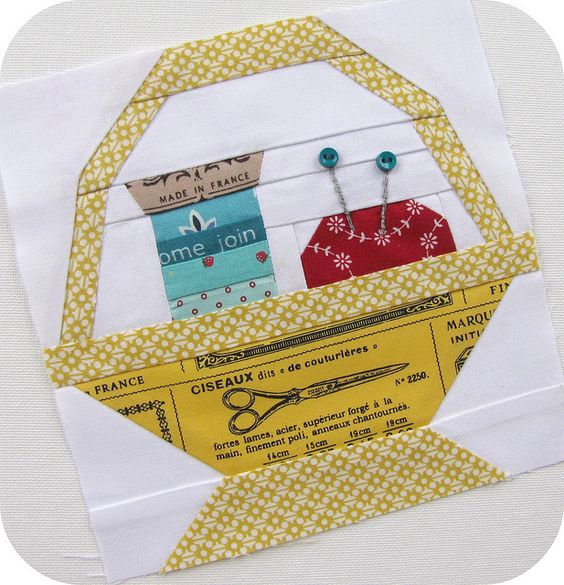 Patchwork 318 Bee - Sewing Basket For Amisha by Charise *, via Flickr