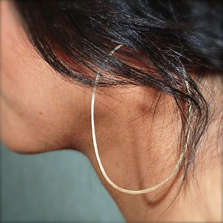 Glamour Stoned – Oval Hoops // Gold Filled