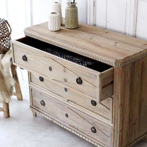 Tikamoon Emily Solid Pine Chest Of Drawers Cera Para Muebles Cajones Diseno Madera
