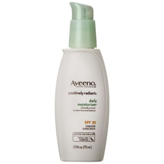 Aveeno Positively Radiant Daily Moisturizer SPF 30 http://beautyeditor.ca/2013/12/10/will-sunscreen-last-all-day