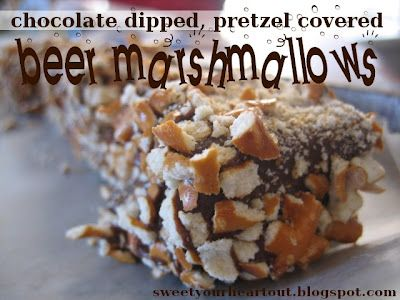 Recipe: Homemade beer marshmallows dipped in chocolate and covered ...
