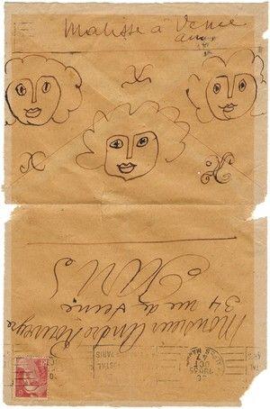 Enveloppe de MATISSE (Coll. P-S Proust)