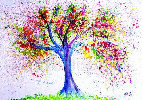 M. Bleichner - Baum des Lebens Aquarell