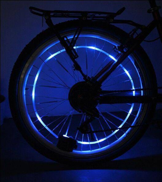 LED Valve Cap Bike Bicycle Car Spoke Light Wheel Bike Fireflys Neon Pink