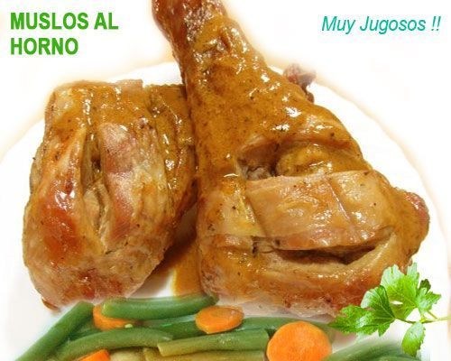 Receta Muslos De Pollo Al Horno Recetas De Pollo Al Horno Pollo