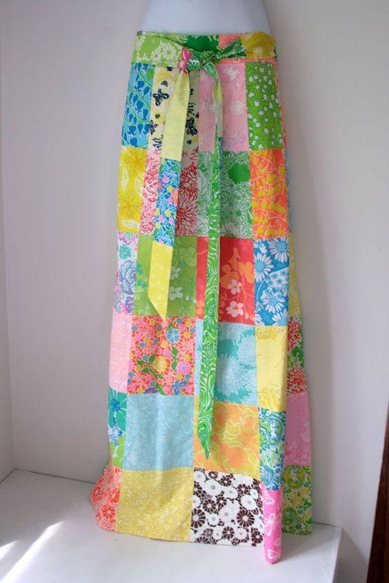 VTG Lilly Pulitzer Maxi wrap around skirt | Wrap around skirt ...